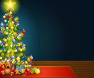 Priorità bassa di notte di Natale Fotografia Stock Libera da Diritti