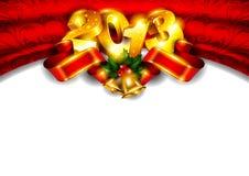 Priorità bassa di nuovo anno 2013 con il posto per testo Fotografia Stock Libera da Diritti
