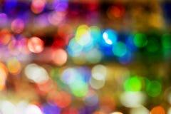Priorità bassa di nuovo anno Astrazione vaga dei colori luminosi fotografie stock