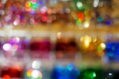 Priorità bassa di nuovo anno Astrazione vaga dei colori luminosi immagine stock libera da diritti