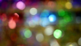 Priorità bassa di nuovo anno Astrazione vaga dei colori luminosi stock footage