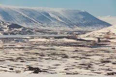 Priorità bassa di paesaggio di inverno Fotografia Stock Libera da Diritti