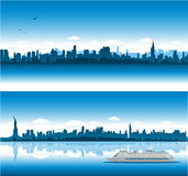 Priorità bassa di paesaggio urbano di New York Fotografie Stock