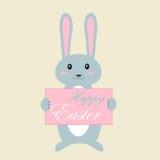 Priorità bassa di Pasqua con coniglio Fotografia Stock