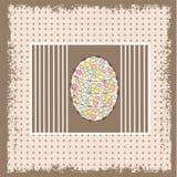 Priorità bassa di Pasqua con l'uovo decorato Fotografia Stock Libera da Diritti