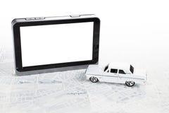 Priorità bassa di percorso di GPS. Fotografia Stock