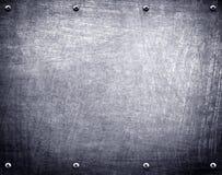 Priorità bassa di piastra metallica Fotografia Stock Libera da Diritti