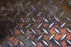 Priorità bassa di piastra metallica del diamante di Grunge Fotografia Stock