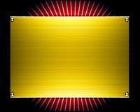 Priorità bassa di piastra metallica dell'oro Immagine Stock
