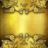 Priorità bassa di piastra metallica dorata Fotografia Stock