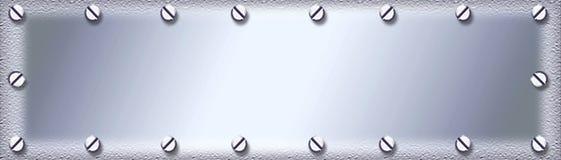 Priorità bassa di piastra metallica inossidabile Fotografia Stock