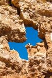 Priorità bassa di pietra in canyon di Charyn fotografia stock