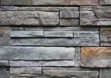 Priorità bassa di pietra della parete dell'ardesia Fotografia Stock