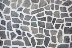 Priorità bassa di pietra di struttura della parete del mosaico Fotografie Stock Libere da Diritti