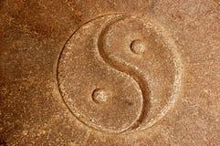 Priorità bassa di pietra di Yin Yang immagini stock