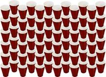 Priorità bassa di plastica della tazza Fotografia Stock Libera da Diritti