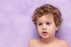 Priorità bassa di porpora del bambino Fotografie Stock Libere da Diritti