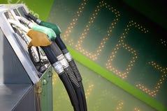 Priorità bassa di prezzi di combustibile Fotografia Stock Libera da Diritti