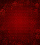 Priorità bassa di rosa dell'annata di colore rosso Immagini Stock Libere da Diritti