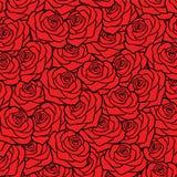 Priorità bassa di rosa di colore rosso Fotografia Stock