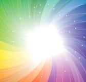 Priorità bassa di rotazione del Rainbow. Vettore Fotografia Stock Libera da Diritti