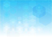 Priorità bassa di scienza astratta Progettazione geometrica di esagono illustrazione di stock