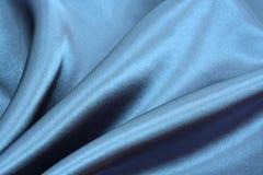 Priorità bassa di seta blu Fotografie Stock Libere da Diritti