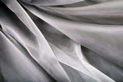 Priorità bassa di seta d'argento Immagine Stock Libera da Diritti