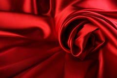 Priorità bassa di seta rossa Fotografia Stock Libera da Diritti
