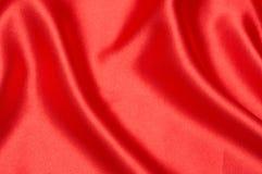 Priorità bassa di seta rossa per i biglietti di S. Valentino Fotografia Stock Libera da Diritti