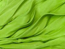 Priorità bassa di seta verde del panno Immagine Stock Libera da Diritti