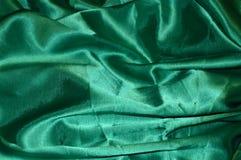 Priorità bassa di seta verde immagini stock libere da diritti