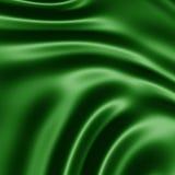 Priorità bassa di seta verde scuro Fotografia Stock Libera da Diritti