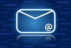 Priorità bassa di simbolo del email Fotografia Stock