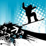 Priorità bassa di snowboard Fotografie Stock