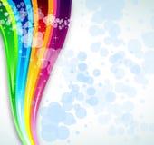 Priorità bassa di spettro del Rainbow per l'opuscolo o le alette di filatoio Immagini Stock