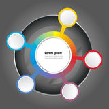 Priorità bassa di spettro di colore del grafico di vettore Fotografia Stock