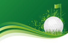 priorità bassa di sport di golf Fotografie Stock
