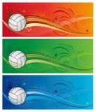 priorità bassa di sport di pallavolo Fotografia Stock Libera da Diritti