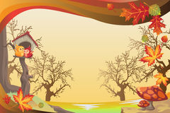 Priorità bassa di stagione di caduta o di autunno Immagini Stock