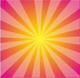 Priorità bassa di Starburst di colore giallo di colore rosa caldo di vettore Fotografia Stock Libera da Diritti