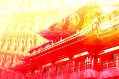 Priorità bassa di struttura del collage di corsa dell'Asia Fotografia Stock