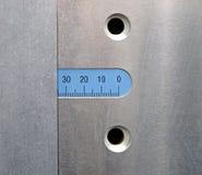 Priorità bassa di struttura del metallo del primo piano, numeri, Immagine Stock Libera da Diritti