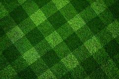 Priorità bassa di struttura dell'erba verde e la riga taglio Fotografia Stock Libera da Diritti
