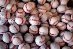 Priorità bassa di struttura delle caramelle di cioccolato di baseball Fotografia Stock Libera da Diritti