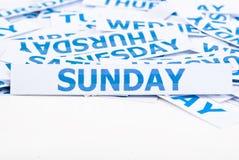 Priorità bassa di struttura di parola di domenica. Immagini Stock
