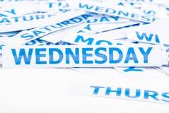 Priorità bassa di struttura di parola di mercoledì. Fotografie Stock