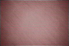 Priorità bassa di struttura Lamina di metallo perforata grigia Piatto d'acciaio con i fori di una forma del cuore illustrazione vettoriale
