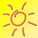 Priorità bassa di Sun di estate Fotografia Stock