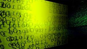 Priorità bassa di tecnologia Codice binario Estratto Big Data illustrazione di stock